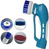 EVERTOP EL Cepillo Electríco Portátil Inalámbrico El Limpiador de mano para el cuarto de baño, la cocina, los platos. Azul