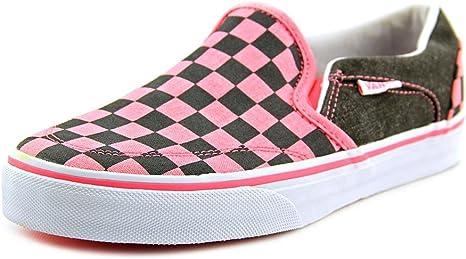 Vans Pink Asher Skate Shoes - Women