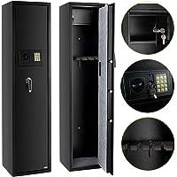 FCH Electronic 5 Rifle Gun Safe Large Firearms Shotgun Storage Cabinet with Small Lock Box