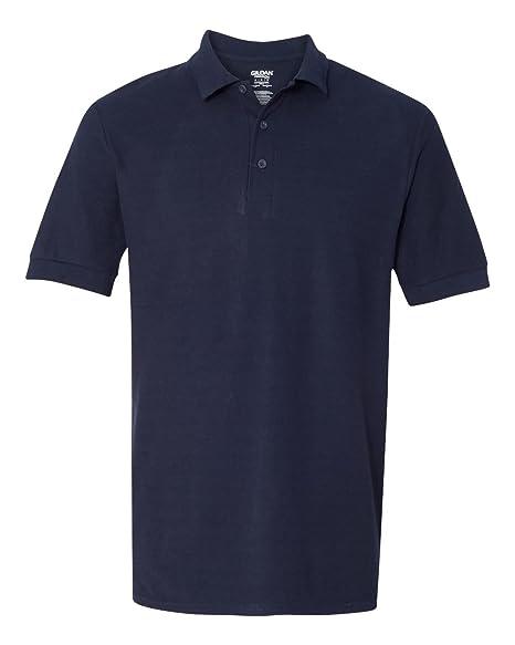 Gildan Mens Double-Needle Premium Pique Polo Shirt