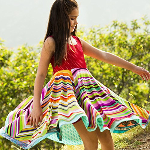 Twirly Girl Circle Skirt Dress Girls Reversible Flip Spin Purple Pink USA Made by TwirlyGirl (Image #2)