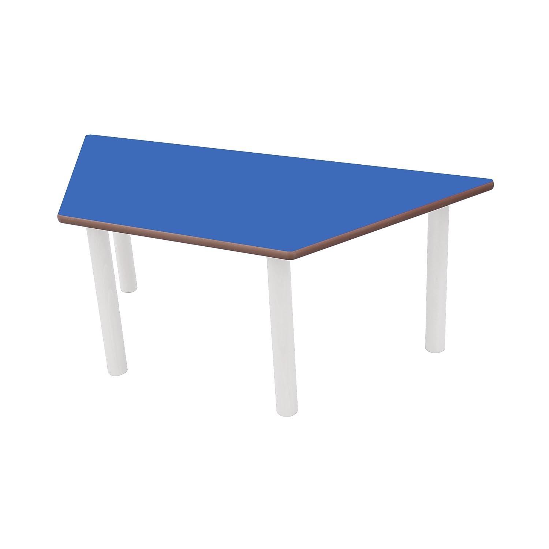 Mobeduc del niño Trapezoidal Mesa, Madera, Azul Oscuro, tamaño 3, 120 x 60 x 59 cm