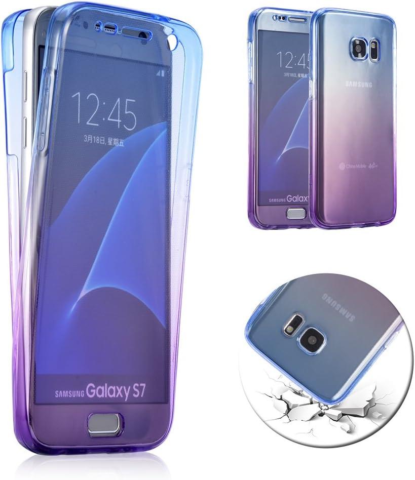 Samsung Galaxy S7 Edge Frontal y Trasera Doble Caso: Amazon.es ...