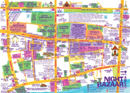 Nancy Chandlers Map of Chiang Mai 20th Edition Nancy Chandler and