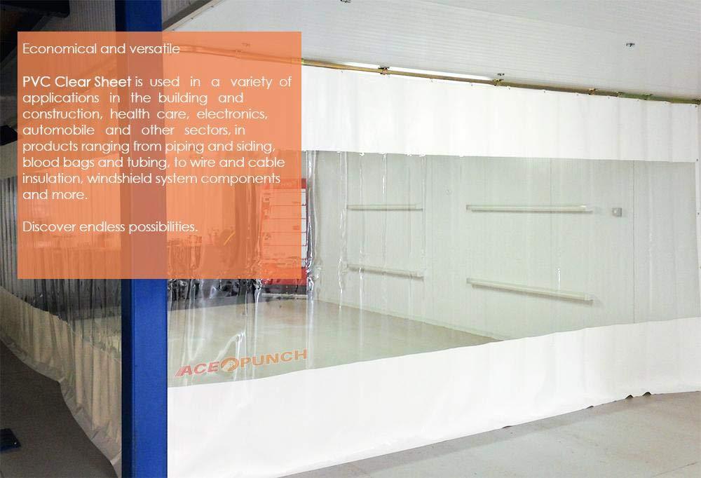 Acepunch Bete de Plastique PVC 18cm x 200cm Portes dentrep/ôt et Chambres propres AP1173 0.6 x 6.6 ft. Rouleau pour Marcher dans le Cong/élateur