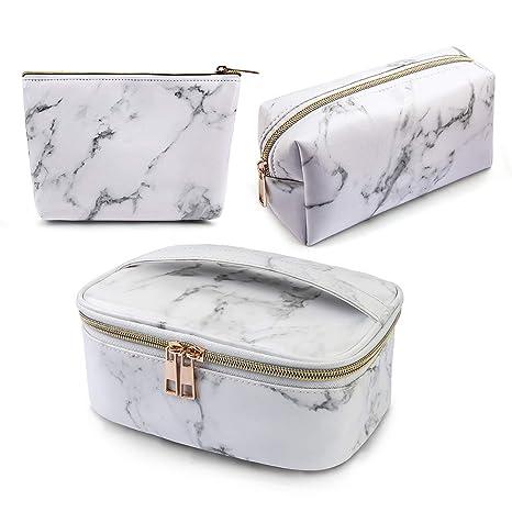 Amazon.com: MAGEFY 3 bolsas de maquillaje portátil de viaje ...