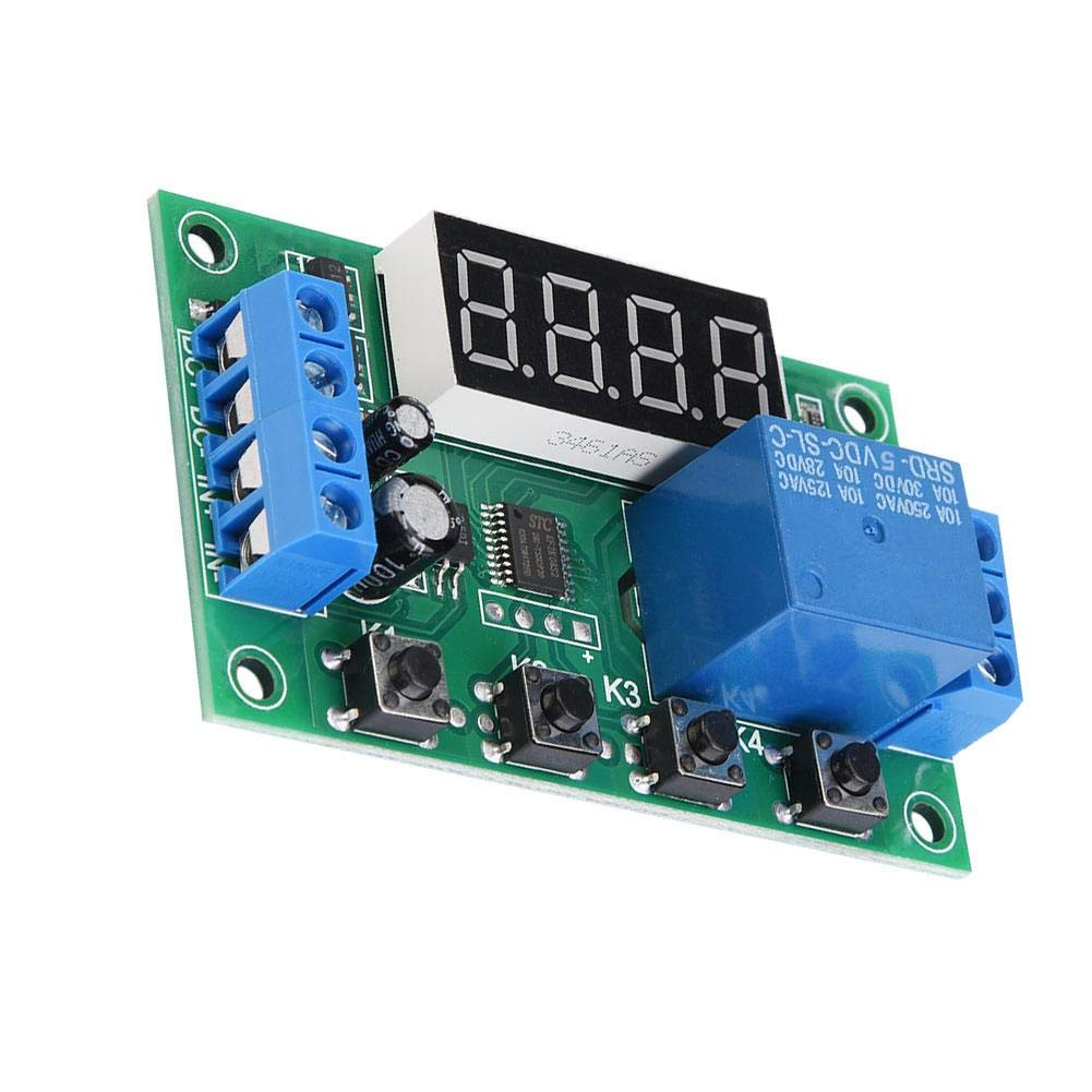 5V Motor Light Belt Water Pump LED Display Adjustable Automation Control Switch Module Control The Solenoid Valve YYC-2S Timer Relay