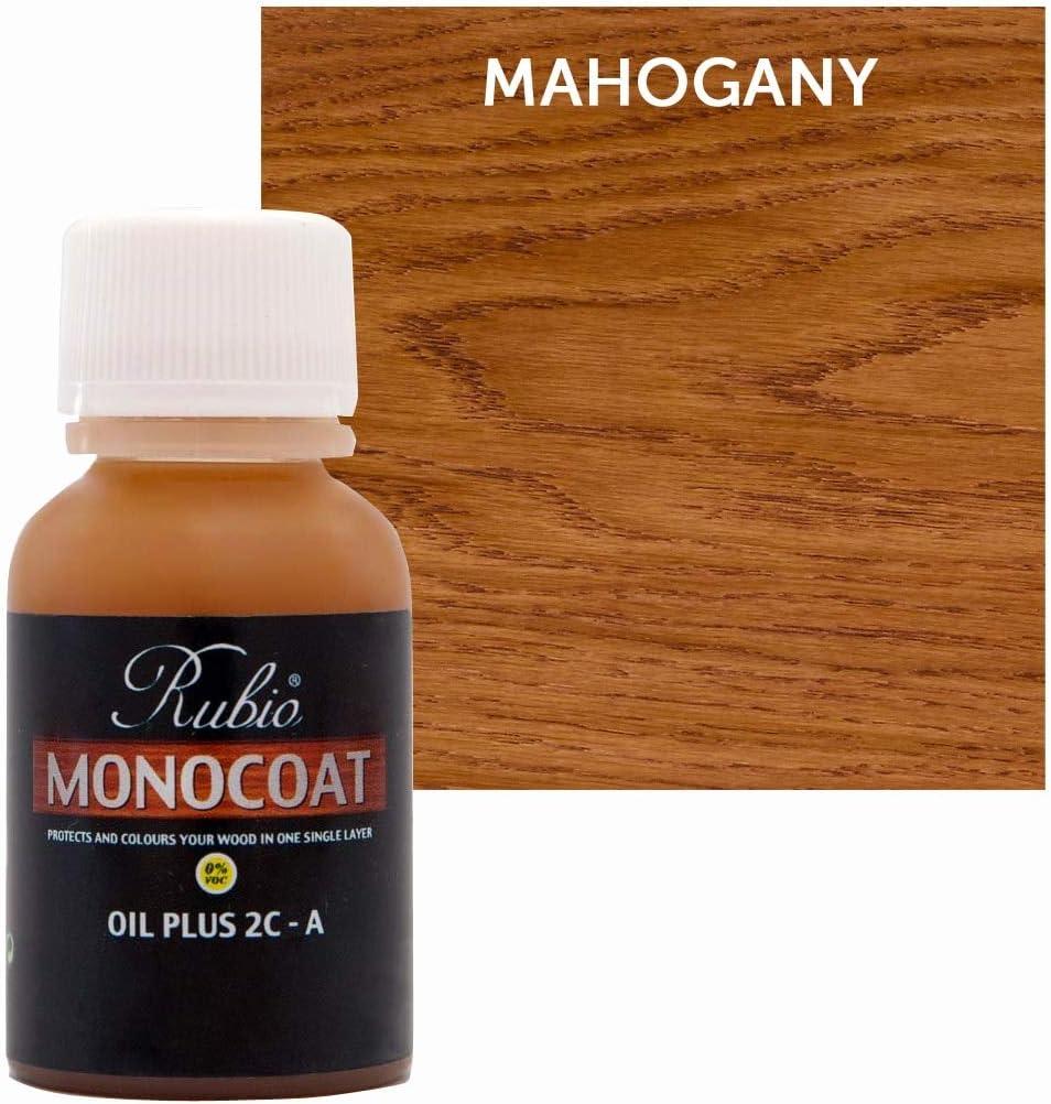 Rubio Monocoat Oil Plus 2C-A Sample Wood Stain Mahogany 20ml