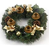Traditional Pine Cone Advent Wreath by Vermont Christmas Company