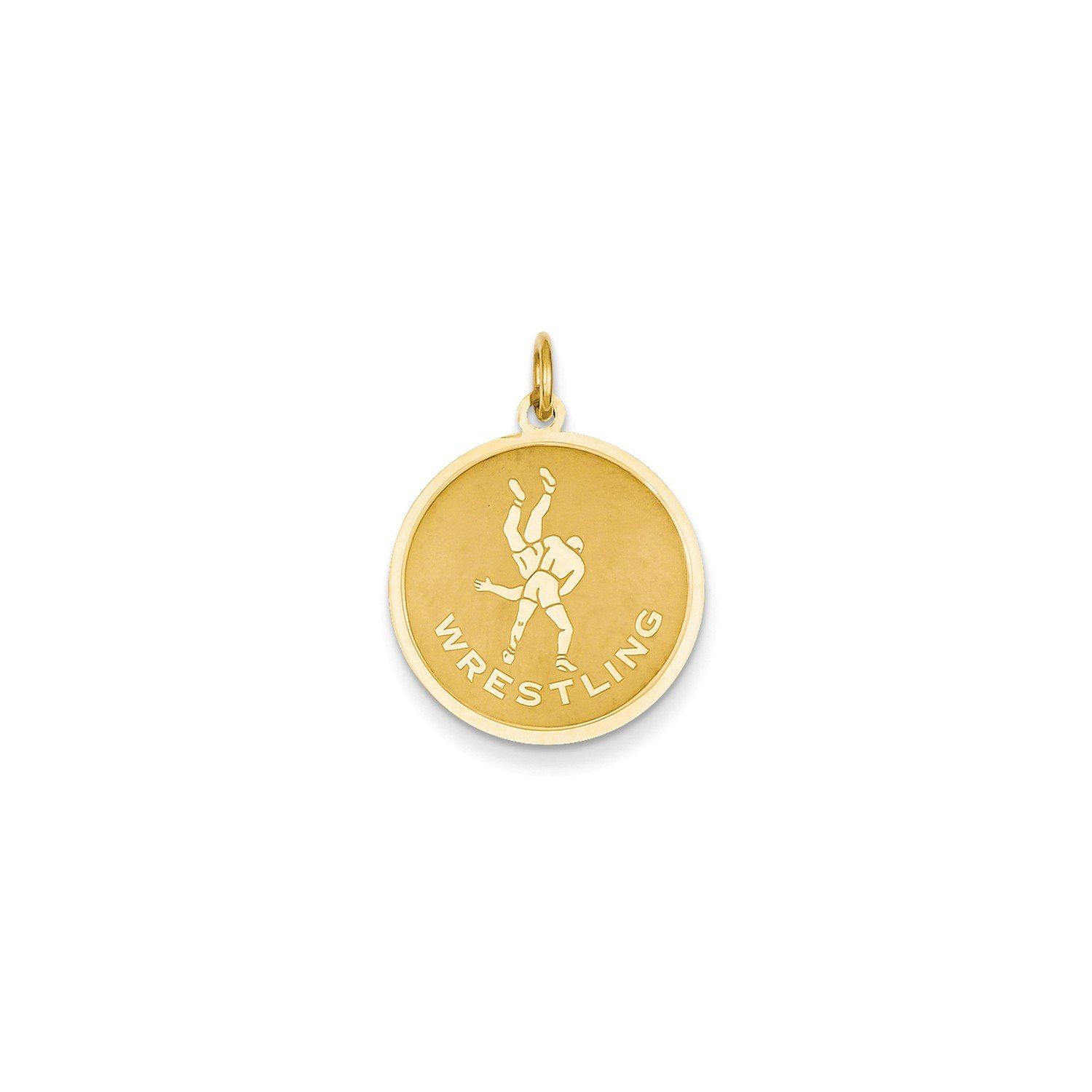 Roy Rose Jewelry 14K Yellow Gold Wrestling Charm by Roy Rose Jewelry