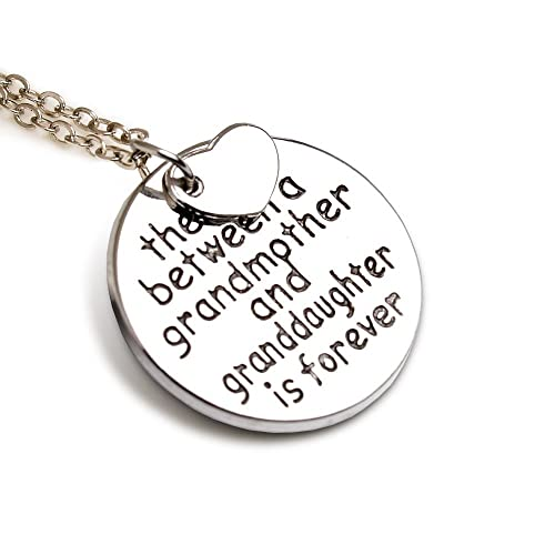 LParkin The Love Between Grandmother and Granddaughter Is Forever Necklace 93DEsP