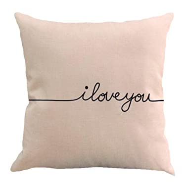 Pilllowcase,Woaills Multicolor Letter Printing Dyeing 18 X 18 Inches Fashion Decorative Cushion Covers (A)