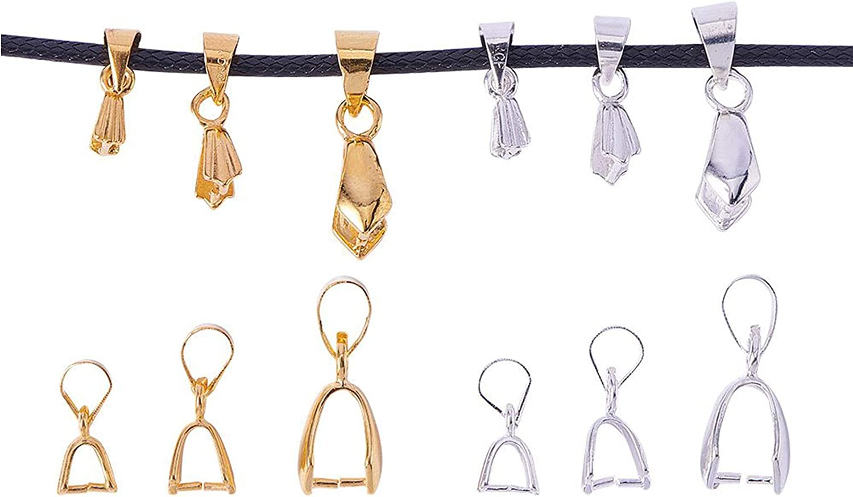 10 Pieces Bronze Tone Pinch Clip Bails Connectors for Necklace Earrings