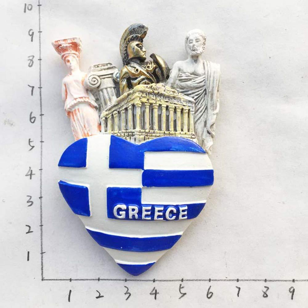 Drapeau de la Gr/èce en forme de coeur 3d Aimant de r/éfrig/érateur souvenirs de voyage Autocollant Home /& D/écoration de cuisine Aimant de r/éfrig/érateur /à partir de Chine