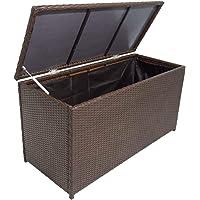 vidaXL Caisse de Stockage de Jardin Banc de Rangement Rotin synthétique