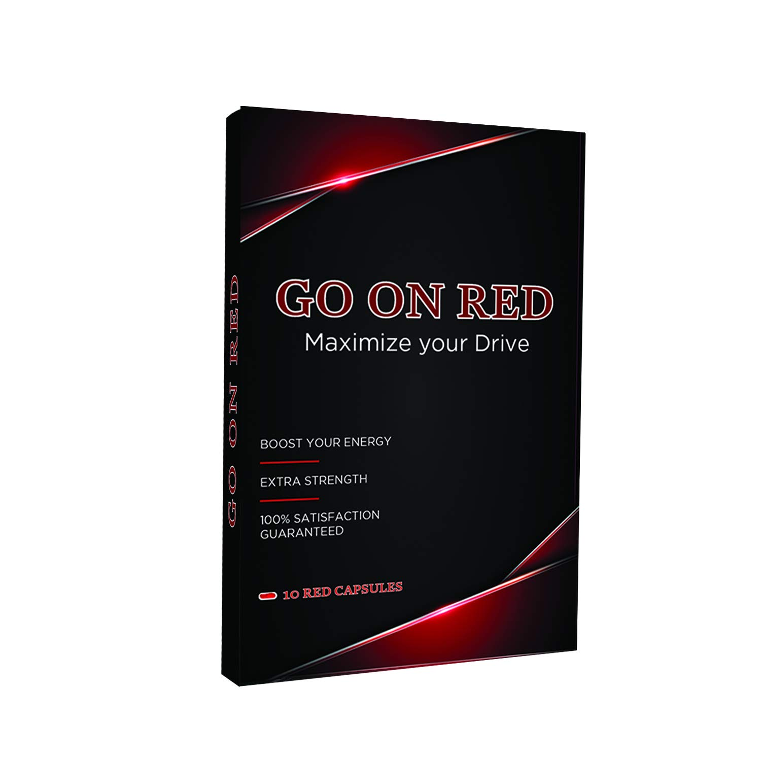 Go On Red, Natural Male Energy Pills, Natural Amplifier for Performance, Energy, and Endurance 10 Red Capsules