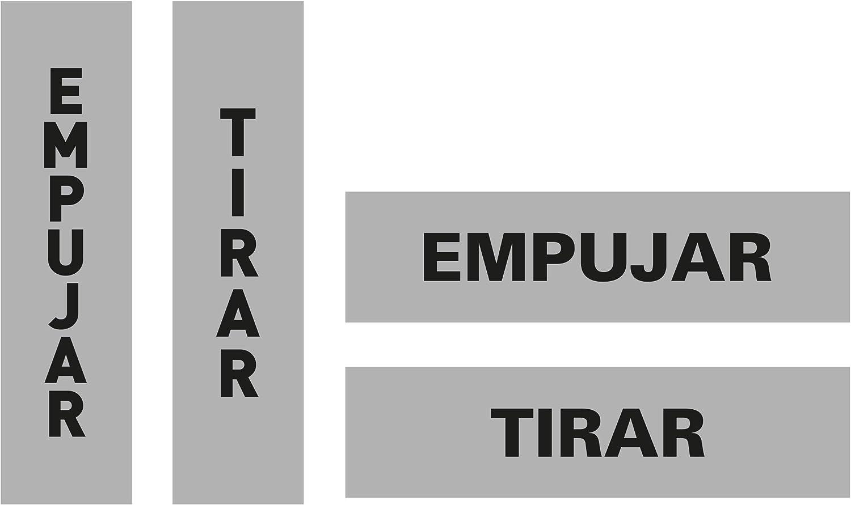 Etiqueta De Sealizacion Empujar/tirar Adhesiva Puerta Cristal 90 X 165