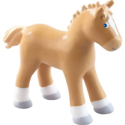 "HABA Little Friends Foal Lissi - 3.75"" Poseable Bendy Toy Horse Figure: Toys & Games"