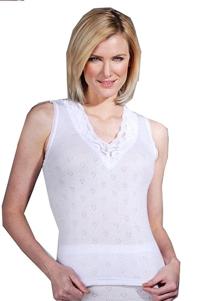 ELEGANCE1234 Delux Wear Ladies Thermal Underwear Sleeveless Cotton Vests