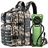 MIRACOL Military Tactical MOLLE Bug Out 3 Day Assault Pack 33L Backpack for Outdoor Travel, Camo