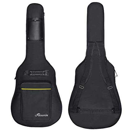 """Wuudi 41"""" Bolsa de guitarra,funda de guitarra impermeable, con doble correa ajustable"""