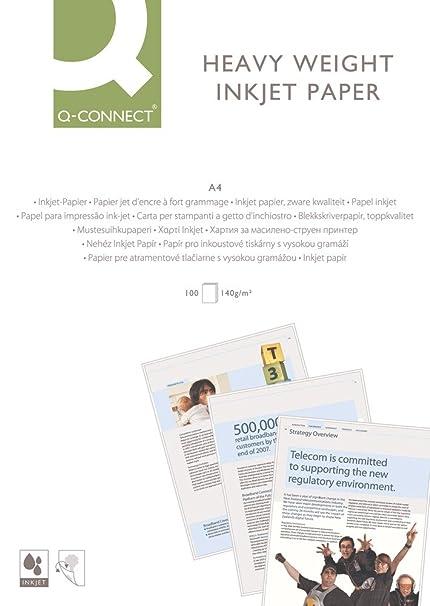 Q-Connect - Papel para impresora de inyección de tinta ...