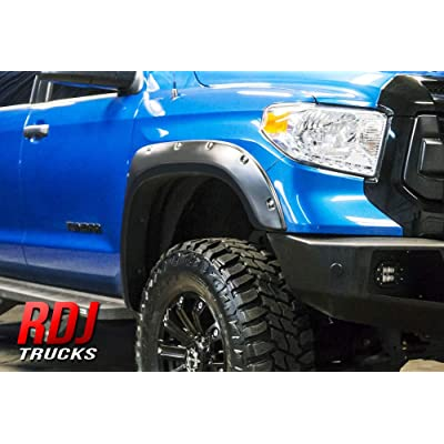 RDJ Trucks PRO-Offroad Bolt-On Style Fender Flares - Fits Toyota Tundra 2014-2020 - Set of 4 (Smooth w/Rhino Skin): Automotive