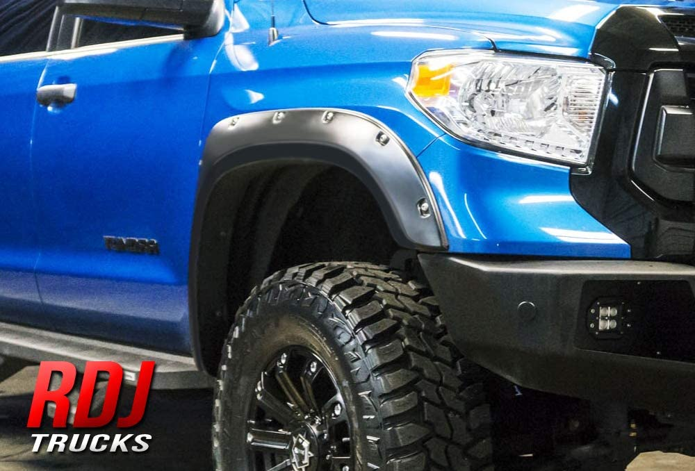For 2014 2015 2016 Toyota Tundra Bolt On Pocket Textured Fender Flares 4PCS