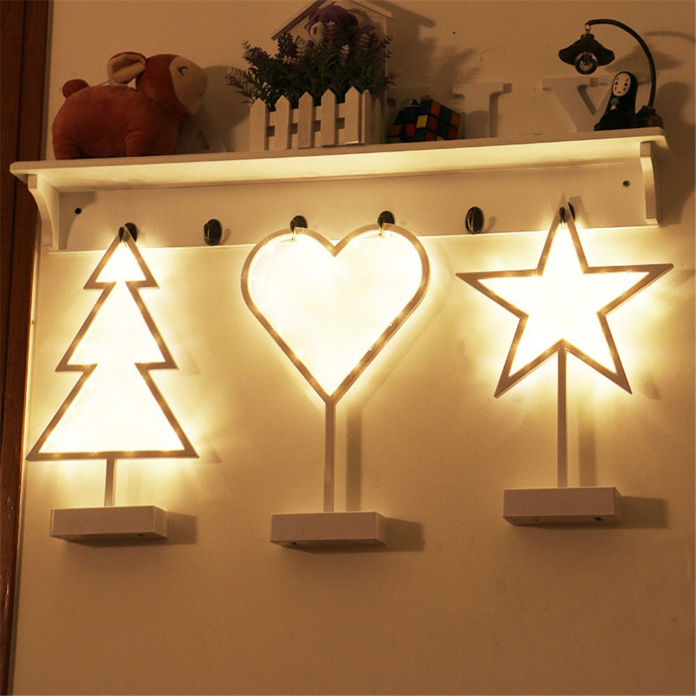 Remeehi Battery Christmas Tree Night Light LED Desk Night Lamp For Kids Gift Xmas Decoration Love by Remeehi (Image #2)