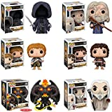 Pop Movies: Lord of the Rings Gandalf, Frodo, Samwise Gamgee, a Nazgul, Saruman, and the Balrog! Vinyl Figures Set of 6