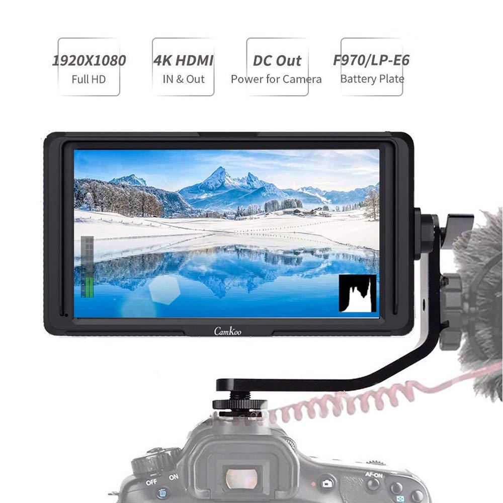 Feelworld CK5 5 Inch DSLR Camera Field Monitor IPS Full HD 1920x1080 Support 4K HDMI Input Output Tilt Arm Power Output On Camera Video Monitor by FEELWORLD