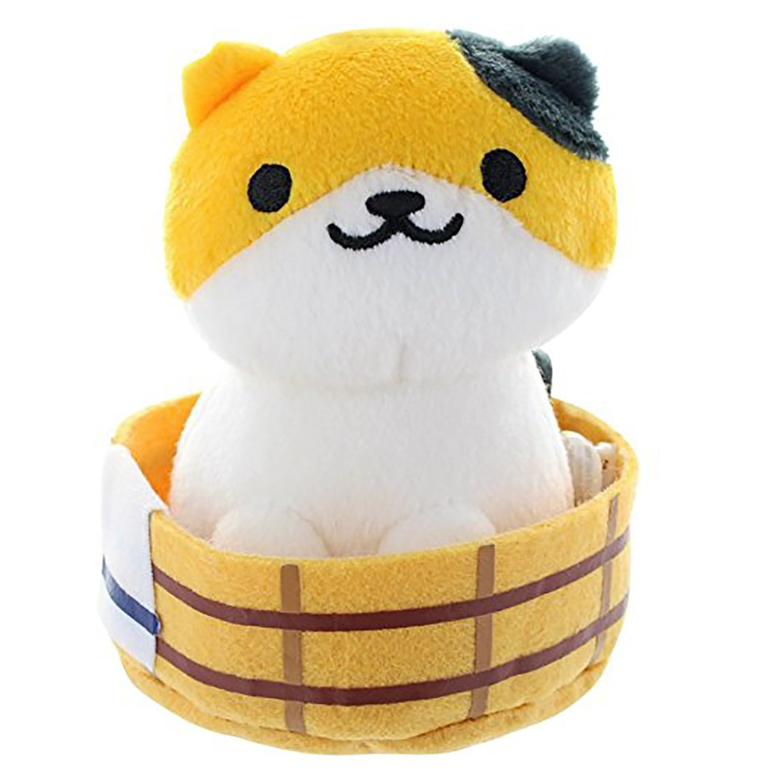 Neko Atsume ねこあつめ Callie Wood Pail Small Plush Toy with Bed Japan Special 6'' Vol 11 by Nekoatsume