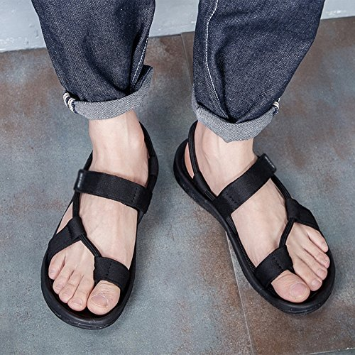 Sandals MAZHONG Men's Men's Beach Shoes Summer Outdoor Summer Men's Slippers Dual Trendy Shoes (Color : Black-EU37/UK4.5-5/CN37) Black-eu37/Uk4.5-5/Cn37 vZzVCc41AU