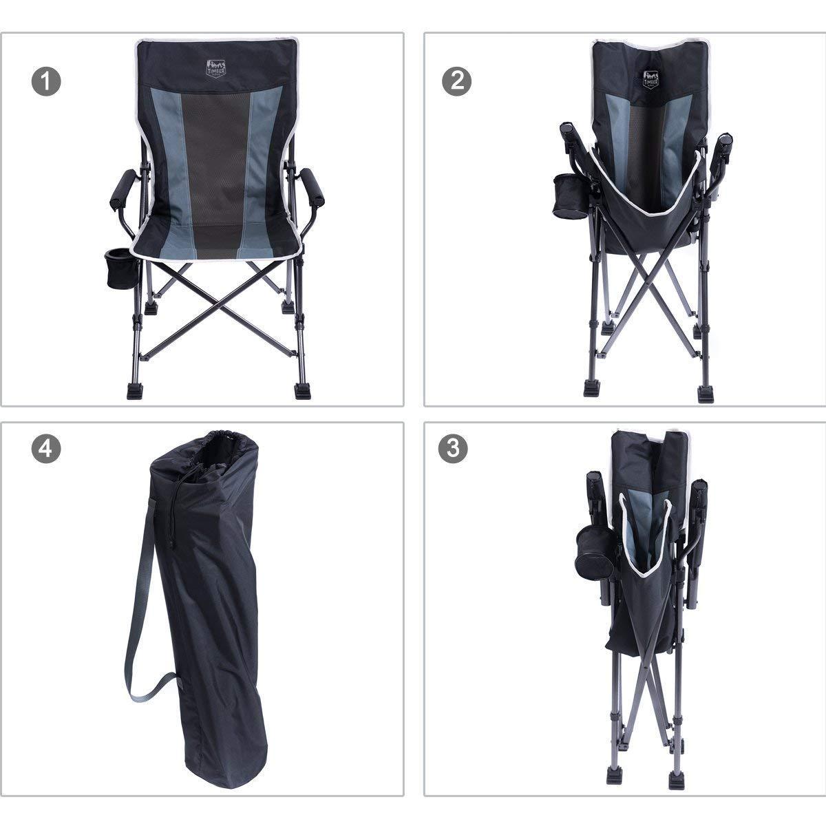 Amazon.com: Timber Ridge - Silla de camping ergonómica con ...