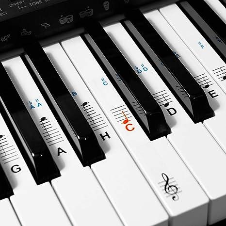 Keyboard- Piano- 88 Stickers Klavier- Noten- Aufkleber C-D-E-F-G-A-H