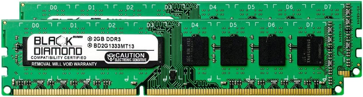 4GB 2X2GB RAM Memory for Acer Aspire Desktop M3470-UC30P DDR3 DIMM 240pin PC3-10600 1333MHz Black Diamond Memory Module Upgrade