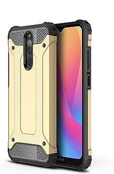 TianSY Funda Xiaomi Redmi Note 8, PC + TPU Doble Capa Híbrida Funda Anti Crash Anti rayones Funda Case Adecuado para el Xiaomi Redmi Note 8 Smartphone,Oro: Amazon.es: Electrónica