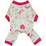 Fitwarm Soft Cotton Sweet Dream Sheep Pet Clothes Dog Pajamas Clothes Shirts, Pink