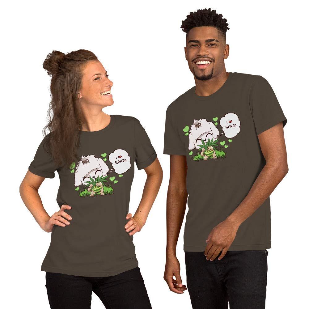 I Love Ganja Short-Sleeve Unisex T-Shirt