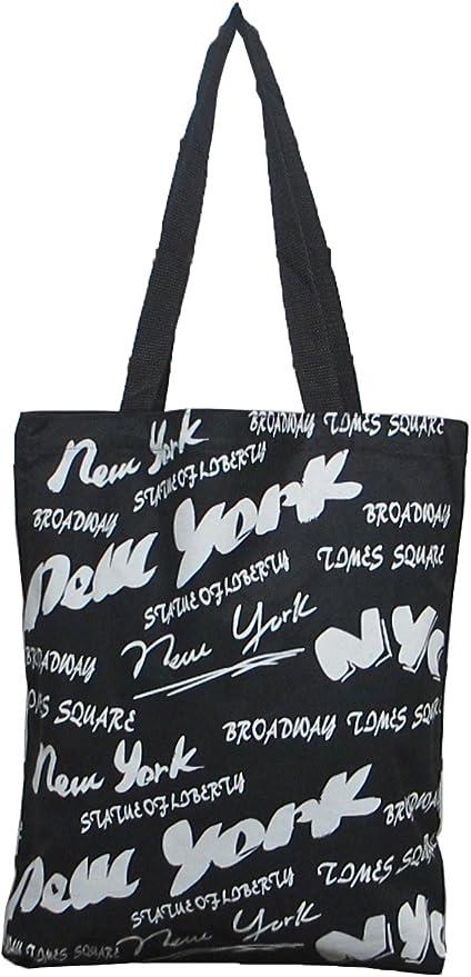 Bolsa de lona de recuerdo de Nueva York, 100% algodón: Amazon.es ...