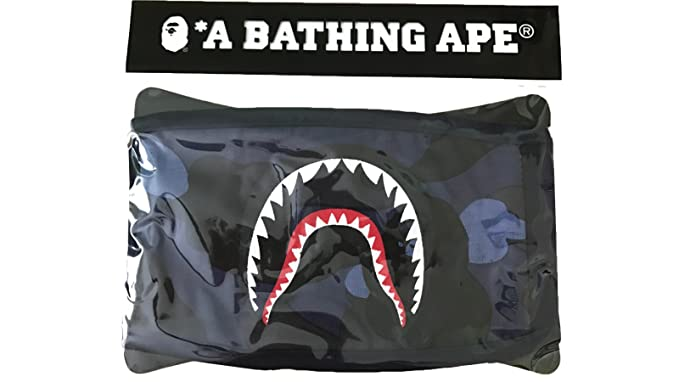 974e7d88e1c Bape Blue Camo Shark Face Mask  Amazon.ca  Clothing   Accessories