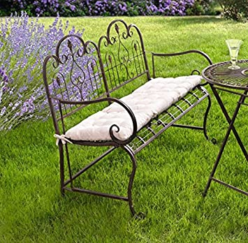 Provence Metal Folding Garden Bench Seat   Warm Brown (Cushion Not  Included) Product SKU
