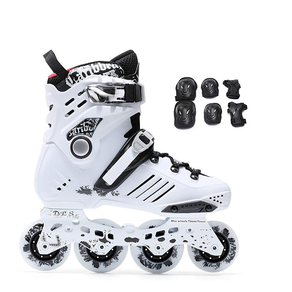 スポーツアウトドアローラースケート通気性抜群ローラーシューズ エクストリームスポーツローラーブレード (Color : 白い-B, Size : EU 41/US/8/UK 7/JP 25.5cm) 白い-B EU 41/US/8/UK 7/JP 25.5cm