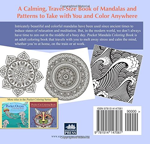 Zen Mandalas Coloring Book : Amazon.com: pocket mandala coloring book: mini zen creations for