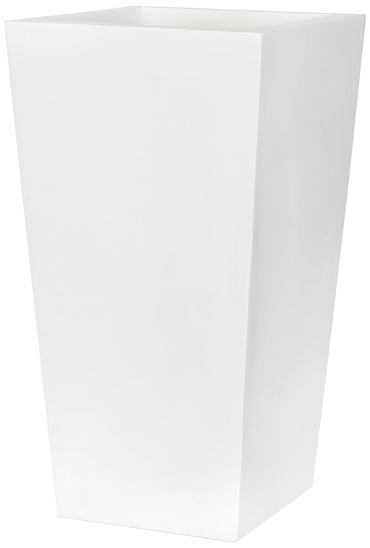 Capi Lux 24 x 24 x 46 cm Tapered Planter I - White Cadix