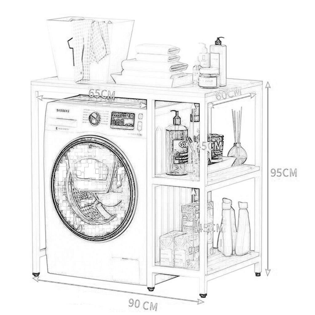 Au-dessus Des Toilettes Etag/ère For Machine /À Laver Etag/ère De Rangement For Salle De Bain Color : A, Size : 100 * 60 * 95CM