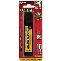 OLFA 9070 LBB-10B ultraskarp svart brytblad, för brytning, 18 mm, 10 stycken