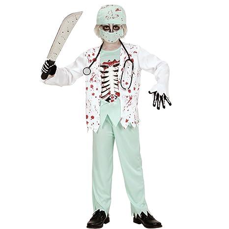 Travestimento da zombie per bambini Costume da dottore per bimbi S 128 cm 5- 7 f4874234c12