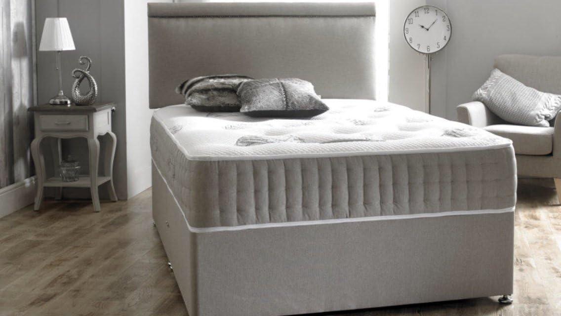 Divan Bed Resorte de bolsillo doble de gravedad divina, 1000 ...