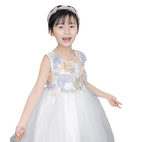 JYJM - Ropa de niña para 4 – 10 años, vestido de boda con flores y ...